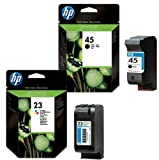 2 Original Printer Ink Cartridges for HP Deskjet 710c Black / Colour