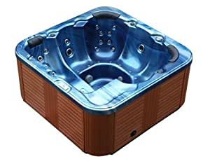 Outdoor Whirlpool Hot Tub Troja Spa mit 40 Massage Düsen + Heizung...