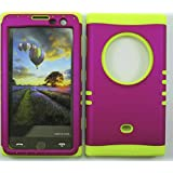 NOKIA LUMIA 1020 CASE (HOT PINK SNAP + YELLOW SKIN), HARD & SOFT RUBBER HYBRID FOR LUMIA, SHOCKPROOF BUMPER COVER...