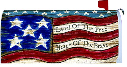 Patriotic welcome mailbox makover cover vinyl with for Patriotic welcome home decorations