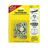 Brass Nickel Plated Canvas Snap Fastener Kit (6 Count)