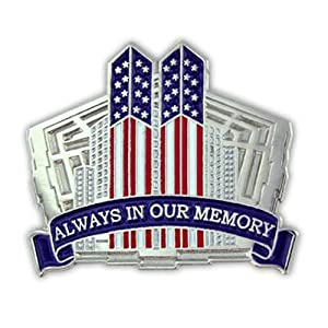 9-11-01 9/11/01 9.11 Remembrance Patriotic Pentagon & Twin Towers Lapel Hat Cap Vest Jacket Pin