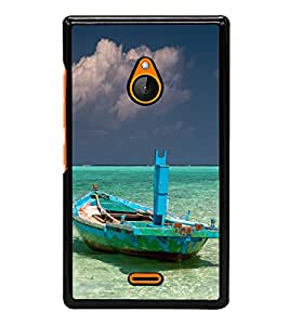 Green Boat and beach Back Case Cover for NOKIA LUMIA XL 540