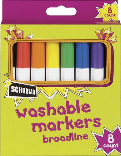 Officemax - Schoolio Washable Markers (8-pack) - Multi