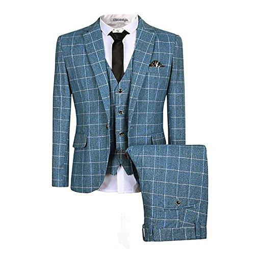 plaid-camisa-para-hombre-de-corte-moderno-traje-de-3-piezas-blazer-para-hombre-tux-pantalones-y-chal