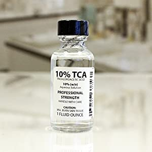 Trichloroacetic Acid Solution TCA 10% Chemical Skin Peel (1 Ounce) by Erlenmeyer's Laboratory