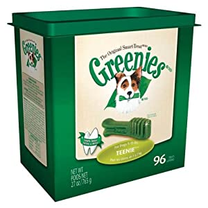 Greenies Dental Chews for Dogs, Teenie Pack, 96 Chews