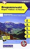 Bregenzerwald: Nr. 01, Outdoorkarte Österreich, 1:35 000