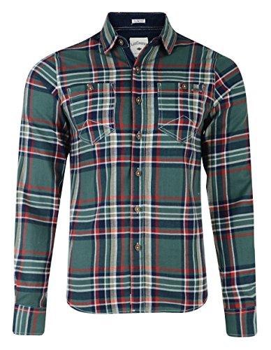 Lee Cooper Wandsworth Camicia a manica lunga a quadri verde Medium