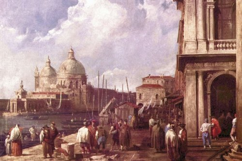 Venetian Piazzetta, By Canaletto, 12X18 Canvas Giclée, Gallery Wrap front-791644