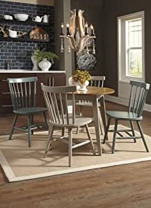 bantilly round dining room table with light gray chair 5 pc set by ashley. Black Bedroom Furniture Sets. Home Design Ideas