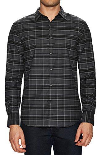 John Varvatos Star USA Mens Long Sleeve Plaid Print Shirt