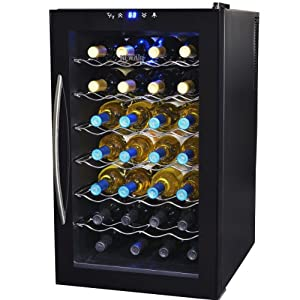 NewAir AW-280E Classic 28 Bottle Thermoelectric Wine Collector, Black