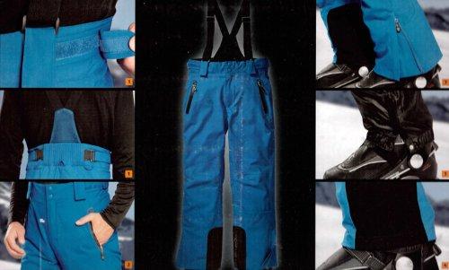 Herren Skihose Hochfunktionell mit Hosenträgern Snowboardhose Schneehose Gr. 50 Farbe: Blau