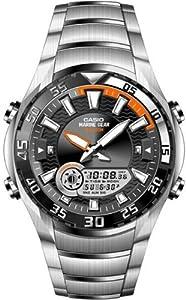 CASIO Collection AMW-710D-1AVEF - Reloj de caballero de cuarzo, correa de acero inoxidable color varios colores (con cronómetro, alarma, luz)