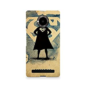 Ebby Superman Standing Premium Printed Case For Micromax YU Yuphoria