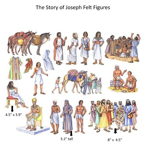 The-Story-of-Joseph-in-Egypt-Felt-Figures-for-Flannel-Board-Bible-Stories-precut
