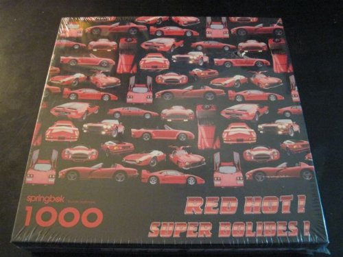 RED HOT! SUPER BOLIDES! 1000 piece puzzle