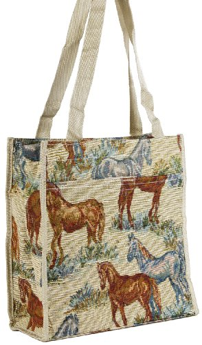 Horse Tapestry Tote Handbag Purse
