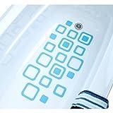 Blue Squares Bathtub Bath Tub Treads Non Slip