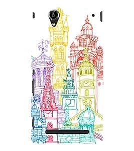 Fuson Premium Printed Hard Plastic Back Case Cover for Sony Xperia T2 Ultra