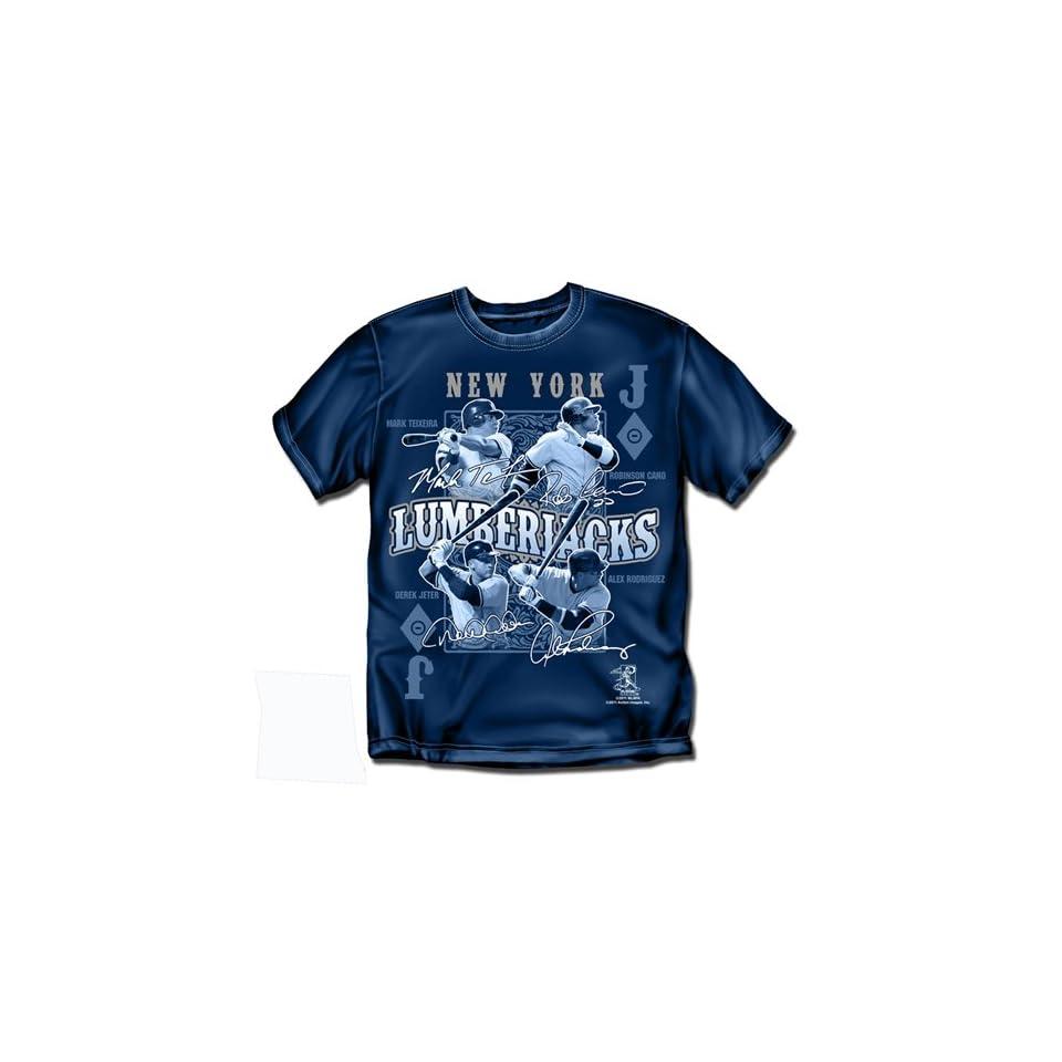 BSS   New York Yankees MLB Lumberjacks Mens Tee (Navy)