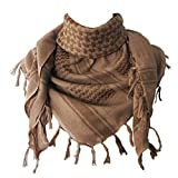 Explore Land 100% Cotton Military Shemagh Tactical Desert Keffiyeh Scarf Wrap (Sand)