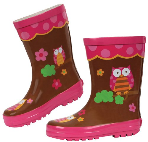 Stephen Joseph Little Girls' Rain Boots, Owl, 12 (Rain Boots Melissa compare prices)