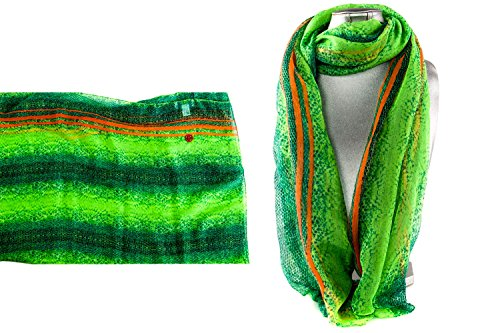 Foulard chiffon GIANMARCO VENTURI particular bufanda mujer motivos verde L1230