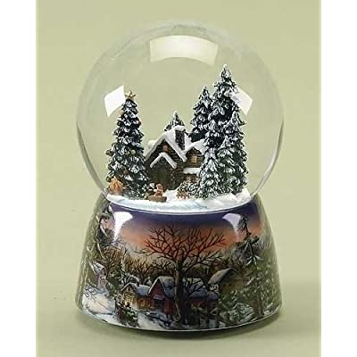 5.5 Winter Wonderland Musical Scenic Pond Christmas Snow Globe Glitterdome