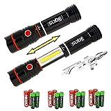 Nebo 6156 Slyde 250 Lumen LED flashlight/Worklight Two Pack and True Utility TU247 KeyTool bundle with 8 X EdisonBright AAA alkaline batteries
