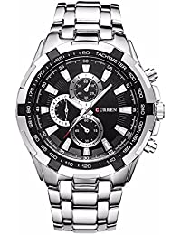 EBI Curren Men's Luxury Military Stainless Steel Quartz Analog Sports Wrist Watch