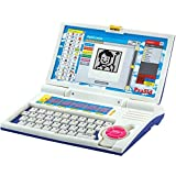PLAY DESIGN English Learner Laptop With Mini Study Game Laptop (WHITE BLUE)