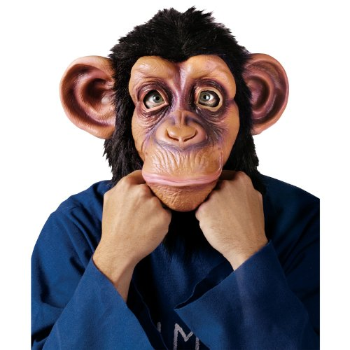 Deluxe Latex Animal Mask - Chimp - Adult