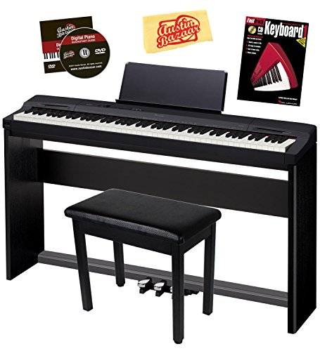 Lowest Price! Casio Privia PX-160 Digital Piano Bundle with Casio CS67 Stand, SP33 Pedal, Bench, Ins...