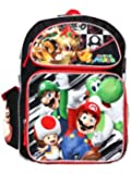 Full Size Black and Red Mario and Bowser Backpack for Kids