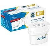 Aqua Optima Evolve - Paquete de 4 filtros de agua para 90 días, 1 año de agua filtrada
