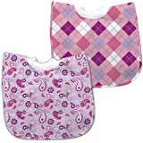 green sprouts 12-24 Months Best Bib Pullover, Lavender/Pink, 2 Pack (Discontinued by Manufacturer)