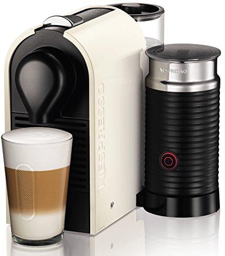 Krups-XN2601-Nespresso-UMilk-Kaffeekapselmaschine-19-bar-inklusive-Welcome-Pack-mit-16-Kapseln-creme-wei