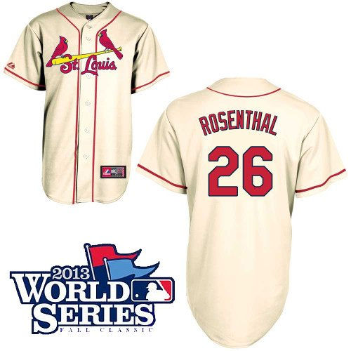 Trevor Rosenthal St. Louis Cardinals Replica Ivory Alternate Jersey w/ 2013 World Series Participant Patch by Majestic Select Size: XX-Large at Amazon.com