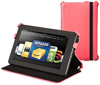 Kindle Fire Genuine Leather Cover by Marware, Pink (will not fit HD or HDX models)