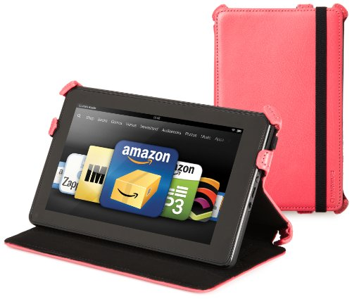 Kindle Fire Genuine Leather Cover by Marware, Pink (does not fit Kindle Fire HD)