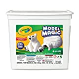 Crayola 57-4400 Model Magic Modeling Compound, 2-lb. Bucket, White, Four 8-oz. Pouches