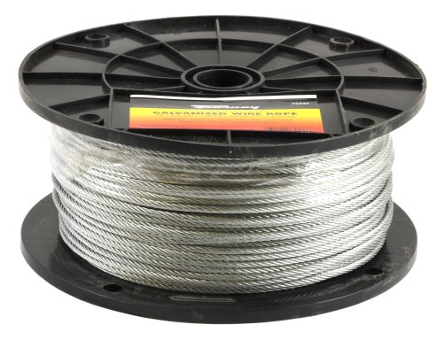 Forney 70446 Wire Rope, Galvanized Aircraft Cable, 500-Feet-by-1/8-Inch (Wire Rope Cable compare prices)