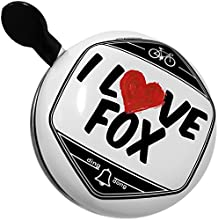 Bicycle Bell I Love Fox by NEONBLOND