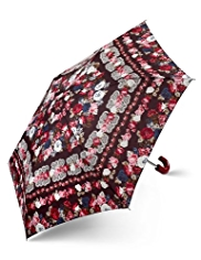 M&S Collection Crafted Floral Crook Handle Umbrella