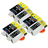 3 Compatible Sets of Black & Colour Printer Ink Cartridges to replace Kodak 30 XL (6 Inks) for Kodak ESP 1.2, 3.2, 3.2S, C110, C310, C315, Office 2170, 2170 & Hero 3.1, 5.1