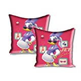 Disney Athom Trendz Cushion Cover- Daisy Duck- Mickey Mouse And Friends- Set Of Two- 40cmx40cm
