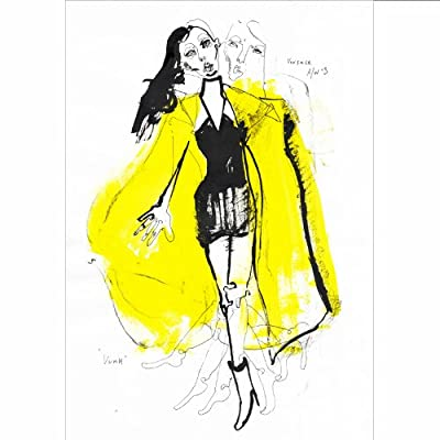 Original Illustration of Versace by Fiona Gourlay||EVAEX