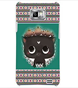 PrintDhaba Kitty D-3685 Back Case Cover for SAMSUNG GALAXY S2 (Multi-Coloured)